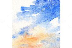 Watercolor sky clouds texture. Textures. $5.00