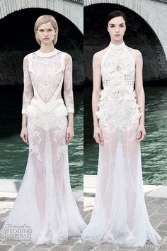 Riccardo Tisci for Givenchy, Fall 2011 (the one on the left has a great waist)
