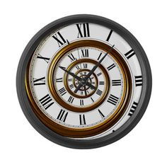 Spiral Clock - Cafe Press
