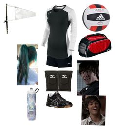 """""""Imagine Sam showing up at your volleyball game"""" by mrs-irwin-grier on Polyvore featuring NIKE, Mizuno, Asics and adidas"""