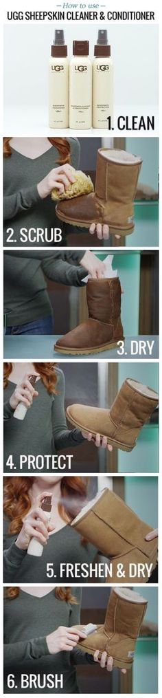 How to clean ur ugg boots