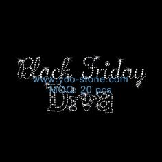 Black Friday Diva Rhinestone Transfer Wholesale For Women Dresses
