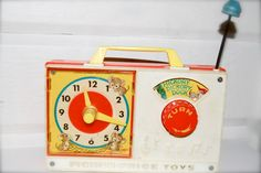 Vintage Fisher Price Radio, Music and Clock, Toy by MilleBebe on Etsy https://www.etsy.com/listing/184880842/vintage-fisher-price-radio-music-and