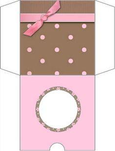 Marrom e Rosa – Kit Completo com molduras para convites, rótulos para guloseimas, lembrancinhas e fundos! |Fazendo a Nossa Festa