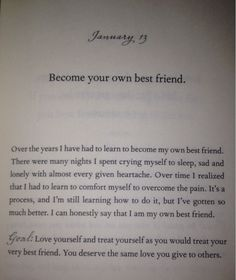 Become your own best friend :) - Demi lovato - staying strong