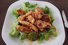 Honig - Hähnchenbrust mit Sesam und Broccoli, ein gutes Rezept aus der Kategorie Gemüse. Bewertungen: 113. Durchschnitt: Ø 4,1.