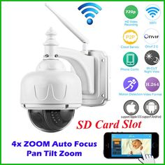 94.08$  Buy here - http://alidt0.worldwells.pw/go.php?t=32721388626 - OwlCat HD 720P Security CCTV Outdoor PTZ Wireless Speed Dome IP Camera Wifi 4X Auto Zoom Focus 2.8-12mm lens Micro SD Card Onvif 94.08$