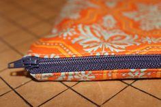 Zippered Pouch with Corners