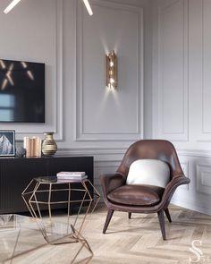 Interior Living Room Design Trends for 2019 - Interior Design Luxury Homes Interior, Home Interior Design, Interior Architecture, Interior Decorating, Classic Interior, Modern Interior, Living Room Interior, Living Room Decor, Salas Home Theater