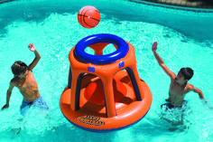 We are an Authorized Swimline Dealer. New Swimline 90285 Giant Shootball Inflatable Pool Toy. Part Number: Founded in 1971 Swimline has grown to be the largest manufacturer of above-ground swimming pool liners in the world. Swimming Pool Games, Cool Swimming Pools, Indoor Swimming, Kids Swimming, Inflatable Pool Toys, Giant Inflatable, Inflatable Float, Jouer Au Basket, Pool Basketball