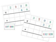 Elodie nous envoie les cartes transformées avec : - une case en plus pour éviter que les chiffres se retrouvent sur le signe de calcul - la correction détaillée Un grand merci à elle C'est ICI...