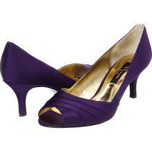 Please Help! Purple Kitten Heels! :  wedding low purple shoes Purple Nina Criana