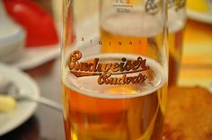 """Budweiser"" from Czech Republic, unrelated from the beer of the same name in the States"