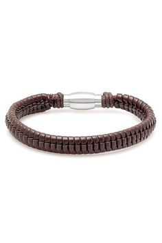 Steeltime Dark Brown Braided Bracelet