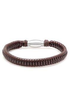 Steeltime Dark Brown Braided Bracelet