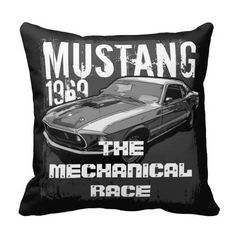 Ford mustang throw pillows