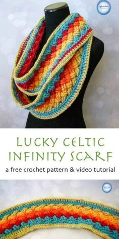 Lucky Celtic Infinity Scarf – Free Crochet Pattern and Video Tutorial | Your Crochet