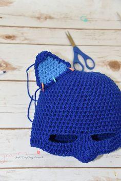 Catboy Mask Free Crochet Pattern