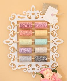 Craft Room Organization - Twine Holder - Damask Love