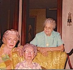 My Grandmother Margaret Bostian Havekorst (in blue) visiting her lifelong friend Bess Wallace Truman (seated).