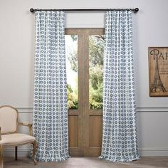 Shop for Exclusive Fabrics Ashby Printed Cotton Curtain. Free Shipping on orders over $45 at Overstock.com - Your Online Home Decor Outlet…