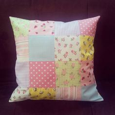 Patchwork cushion:0 Great colours :)