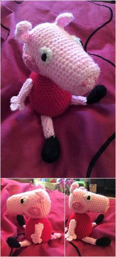 Finally finished my little girls peppa pig xx pattern found on ravelry. Sharon Brinded