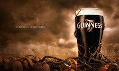 Guinness In my eyes, Guinness remains as one of the kings of creative advertising. Be it on television, billboards or magazine prints. Halloween is no different. Here is a short series of some of their ads from what must be a very creative team. Halloween Prints, Halloween Fun, Dark Beer, Creative Advertising, Advertising Design, Advertising Photography, Commercial Photography, Best Beer, Print Ads