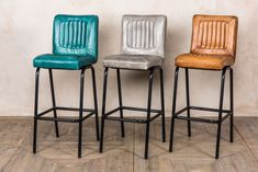 DISTRESSED LEATHER BAR STOOLS | Peppermill Interiors