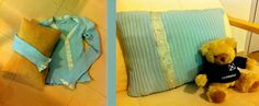 Made a pillowcase from my favorite but old blouse which I was not warring any more.