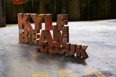 Cardboard Typography by Kyle Bean