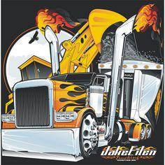Eilen Trucking Tshirt Design
