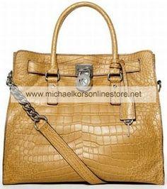 Michael Kors Outlet Handbags Hamilton Large Tote, Peanut