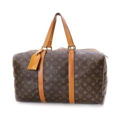 Louis Vuitton Sac Souple 45 Monogram Luggage Brown Canvas M41624