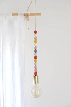 DIY Wrapping Gifts Inspiration     DIY Wooden Bead Pendant Light