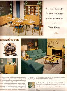Modern Furniture Ads vintage bassett furniture mid century modern ad 1962 | vintage