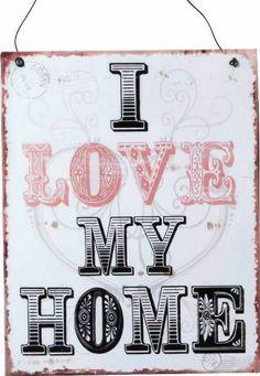 """PLACCA METALLO """"HOME"""""""