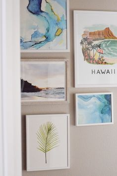Ever wondered how to hang the perfect gallery wall? Get all the details of this dreamy tropical gallery wall straight off the beaches of Waikiki! Hawaiian Wall Art, Gallery, Hawaiian Decor, Cool Diy Projects, Tropical Gallery Wall, Wall Art Decor, Wall, Hawaiian Home Decor, Boho Surf