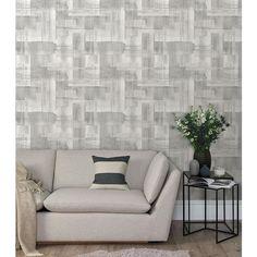 2889-25227 | Plain, Simple, Useful, Trosa Grey Brushstroke Grey - A-Street Prints Wallpaper