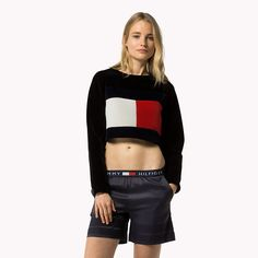 Tommy Hilfiger Flag Sweatshirt - meteorite (Black) - Tommy Hilfiger Sweatshirts - main image