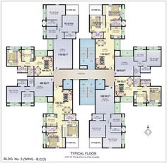 Apartment Plans square tower floor plan, 130 sqm 5-room apartments | plan