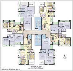 Wing B,C,D | Typical Floor Plan | Bldg No. 3