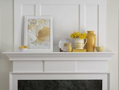 Decorating Your Mantel - color