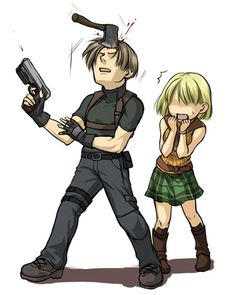 Leon and Ashley by ざんし RE4