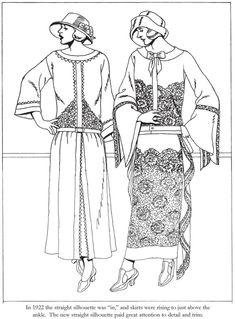 From: Fashions of the Roaring Twenties Coloring Book  http://store.doverpublications.com/0486499502.html