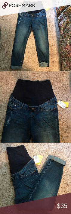 Full Panel Maternity Boyfriend Jeans NWT!! H&M Jeans Boyfriend