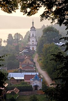 Plyos is a picturesque town on the Volga River, Russia.
