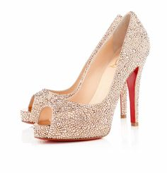 Christian Louboutin Very Riche 120mm Strass Nude