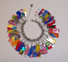 Recycled Credit Card into Bracelet! Awesome Idea.