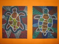 Ecole de Saint-Cergues - Art Aborigène Dotted Drawings, Colorful Drawings, Art Postal, Art Du Monde, Afrique Art, Cultural Crafts, Dot Art Painting, Encaustic Painting, Thinking Day